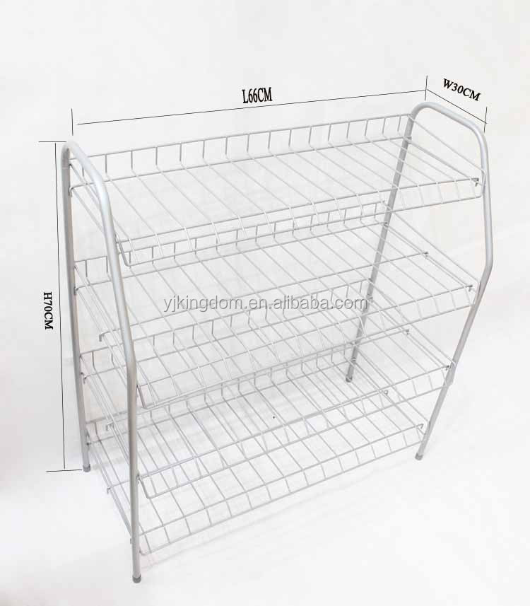 4 tiers metal folding shoes rack,Storage cart organizers stand
