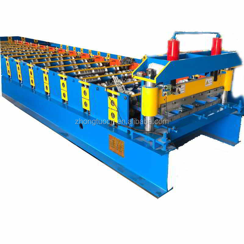5 ribs color steel iron roofing tiles making machine roll former