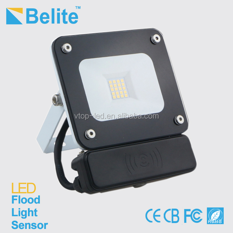 flood light external microwave sensor 10w 1000lm AC220-240v CRI>80 ip65 outdoor led flood light