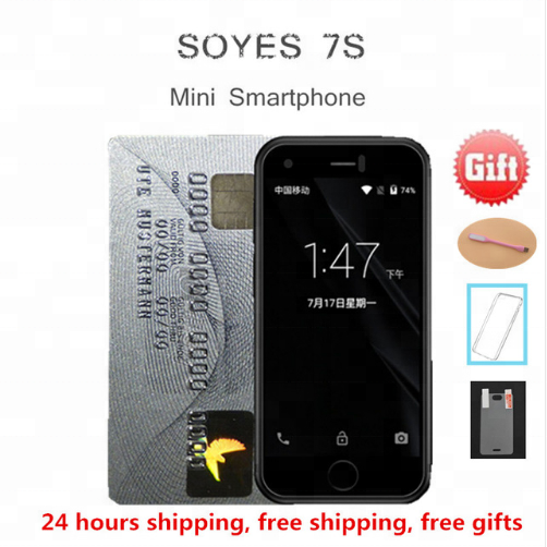 Original SOYES 7S Super Mini Android Smart mobile <strong>Phone</strong> 1GB+8GB 5.0mp quad Core Dual SIM Dual standby Unlocked Pocket Cell <strong>Phone</strong>
