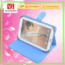 universal blue PU tablet case for 7.9 inch tablet pc tablet cover