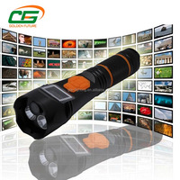 2.2Ah rechargeable multifunction led flashlight dvr camera