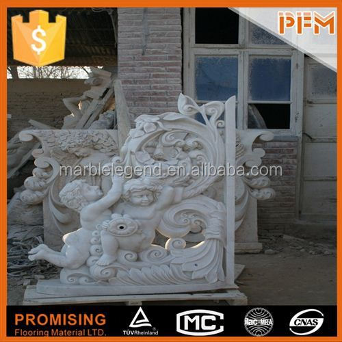 Garden design natural stone dancing brass sculpture