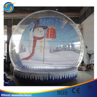 Hot sale inflatable halloween snow globe