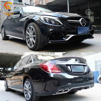 Auto Spare Parts Car C Class W205 Upgrade C63 AMG Full Position Body Kit Set PP Front Bumper Rear Bumper 2014 UP