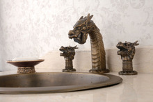 Classic Dragon Head Antique Lavatory Bathroom Basin Faucet