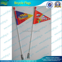 Custom bicycle safety flag with bike flag bracket