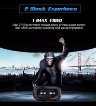 New technology 3d glasses vr shinecon box 2.0 vrarles, Support phone size 4.0inch-6inch vr box 2.0