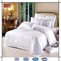 200TC Polycotton Wholesale White Stripe Hotel Bedding / Cotton Hospital Sheets