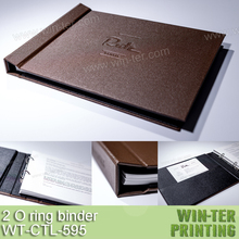 WT-CTL-595 Luxury 2 ring leather binder