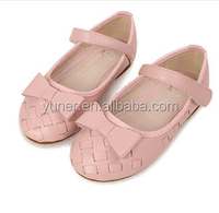 2016 Hot sale bowknot braided style child casual shoes