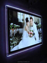 Customize picture frames wholesale, wedding picture frames, led backlit picture frame