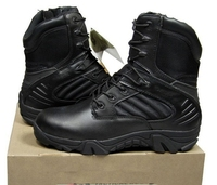 8 Inches Black Color Waterproof Tactical Hiking Boots