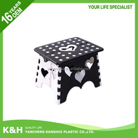 Colorful plastic foldable kids step stool