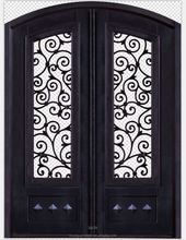 Decorative sheet metal doors panels classic steel design iron door