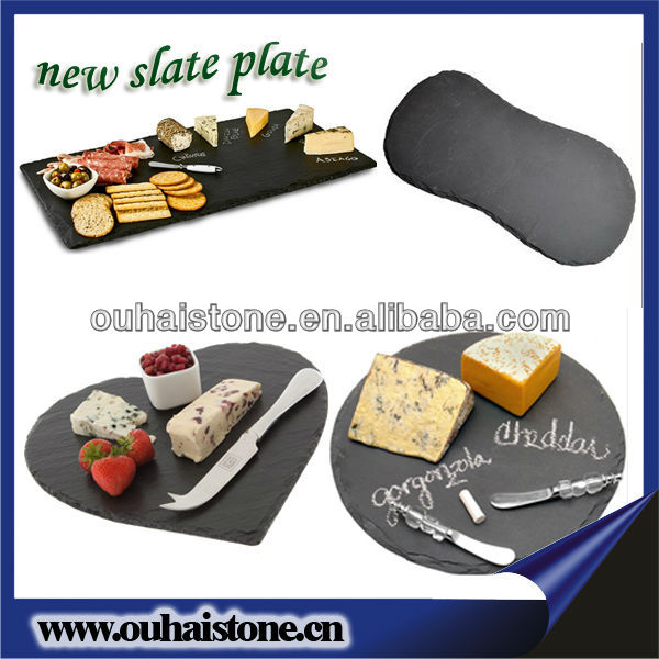 Slate heart shape cheese board with cover