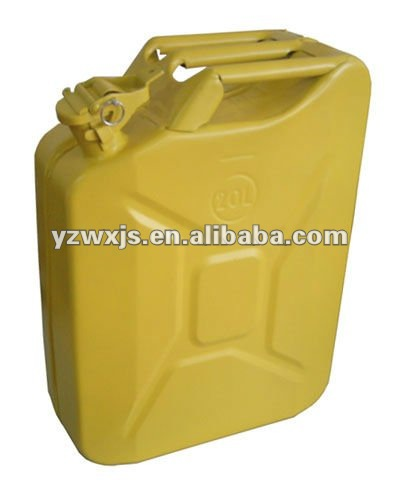 galvanized sheet yellow 20liter fuel tank/oil tank/gas can