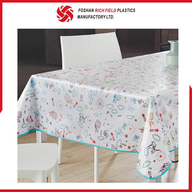 Wholesale Restaurant Eco-Friendly PEVA Funny Tablecloth