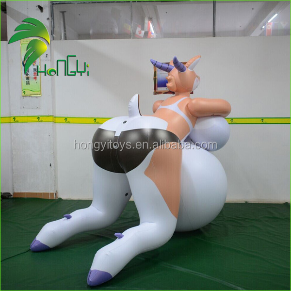 Hongyi Sexy Cartoon , Inflatable Sexy Animal Cartoon Girl , Inflatable Sexy Cartoon With Big Breast