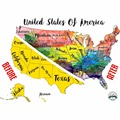 Scratch Off Map USA Travel Watercolor By McScout Maps Mark Your Travels United States Of America