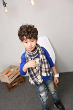 hot sale boys knitted thick winter scarf