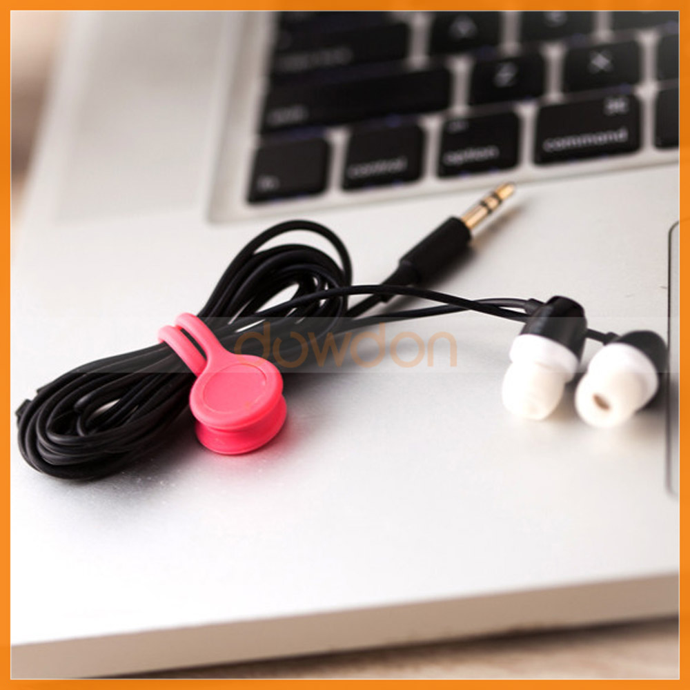 3 Pcs Candy Color Magnetic Earphone Data Cable Cord Winder