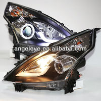 2008-2012 Year NISSAN Teana Angel Eyes LED Strip Head Lamps with Bi Xenon Projector Lens LD
