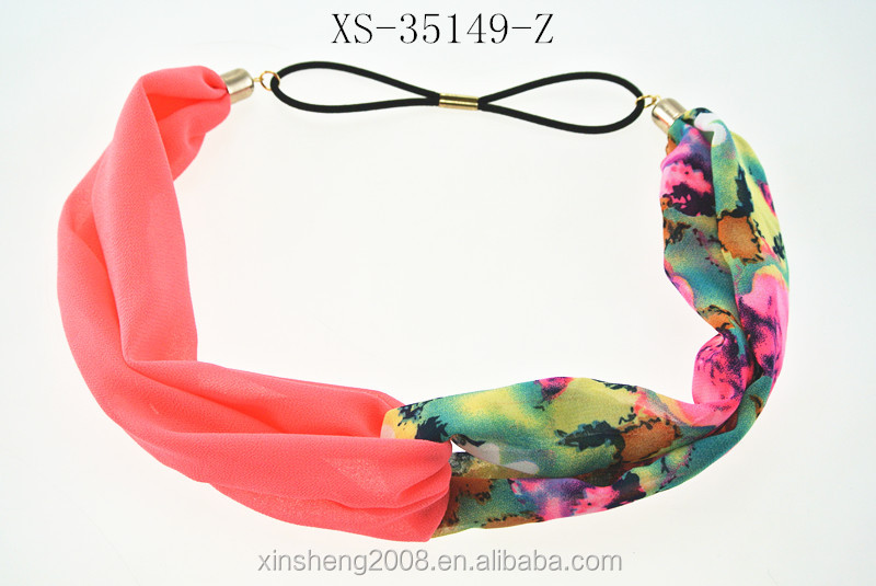 Hot sale Print Bright Colors Twisted Finest Fabrics Fashion Head Wraps