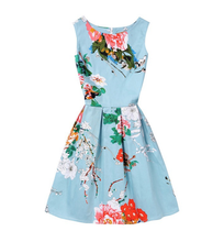 Latest Chinese design fashion one piece ladies one piece Print dress