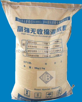 Heat resistant high-strength grouting material
