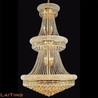 Large luxury indoor crystal chandelier ceiling hanging light pendant lamp 71006