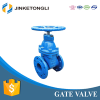 rubber seated resilient seated gate valve rising stem with price DN125