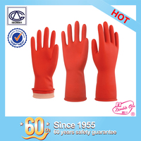 wholesale garden rubber safety work latex household glove with ISO certificate