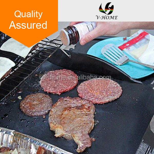 40cm x 33cm Reusable BBQ Grill Mat Hotplate Liner Oven & Baking Non stick Cooking Sheet