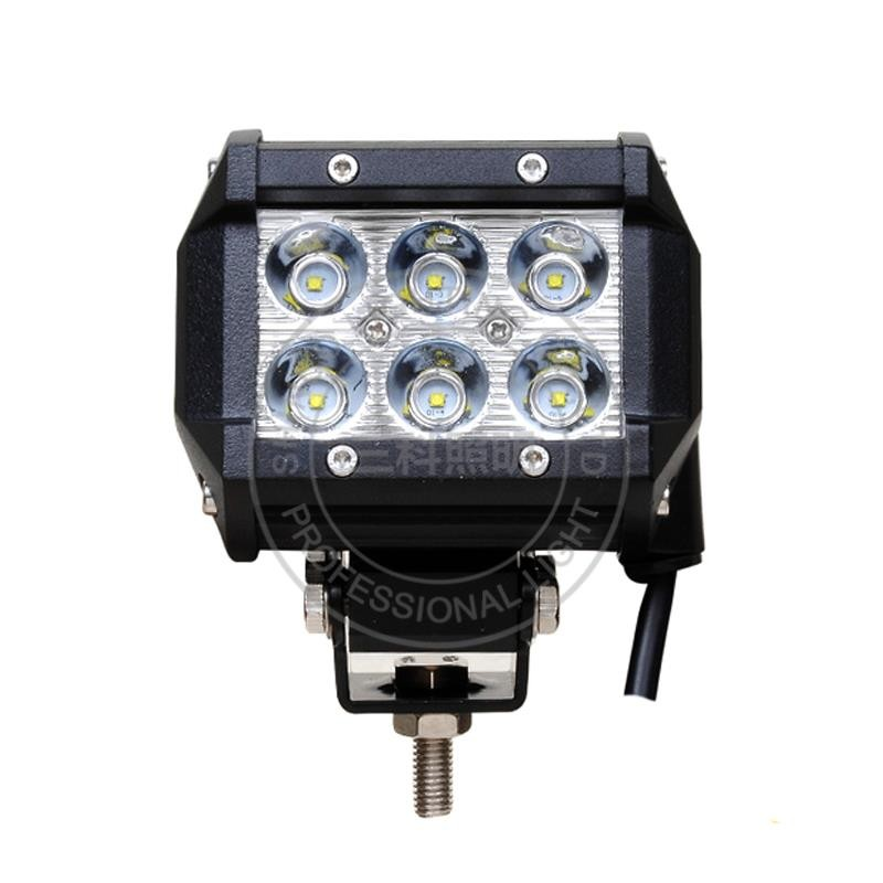 18w work light pod led motorcycle scooter led working light lamp 6 leds epistar 4inches square 18w work light