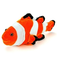 Wholesale lovely orange clown fish promotion clown plush stuffed toy