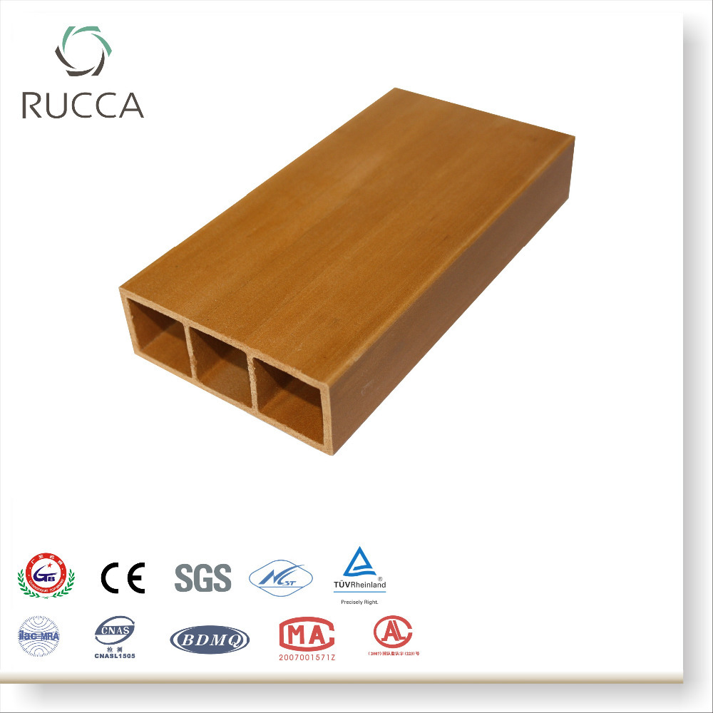 Foshan Rucca WPC Plastic Composite Multifunctional Decorative Timber Logs,Outdoor Ceiling Timber ,Interior Wall Tile 100X35mm