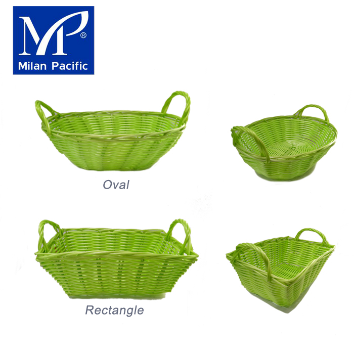 Houseware PE/plastic container rattan basket for home