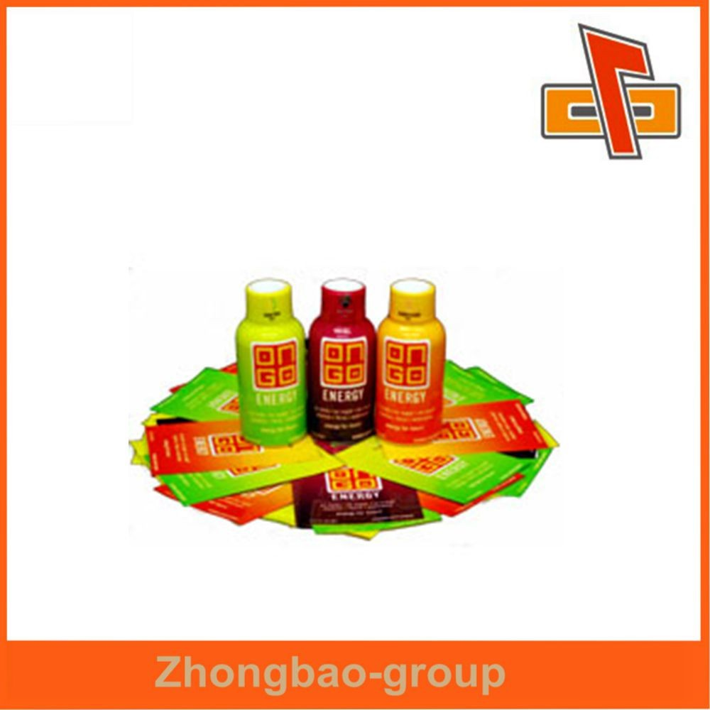 Customized high shrinkage plastic private label energy drink for pack