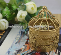 new gold Bird cage metal morocco lantern for wedding&holidays&home decor