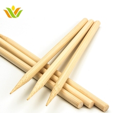 Eco-friendly Natural Round Bamboo Food Skewers/sticks For Bbq