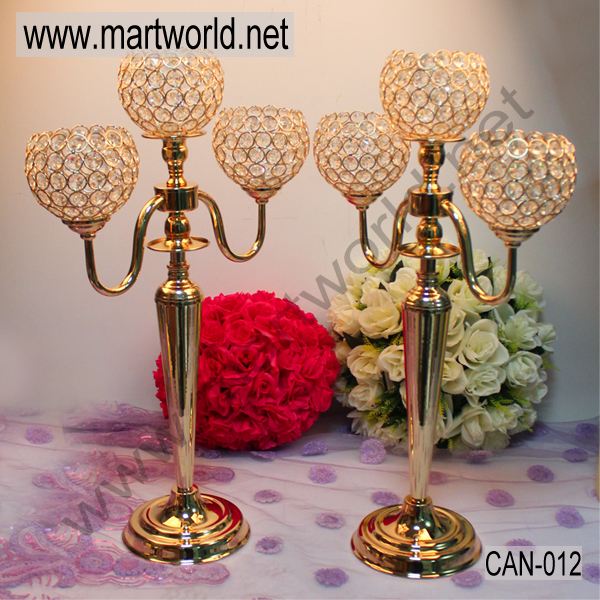 Hot luxury arms wedding gold candelabra