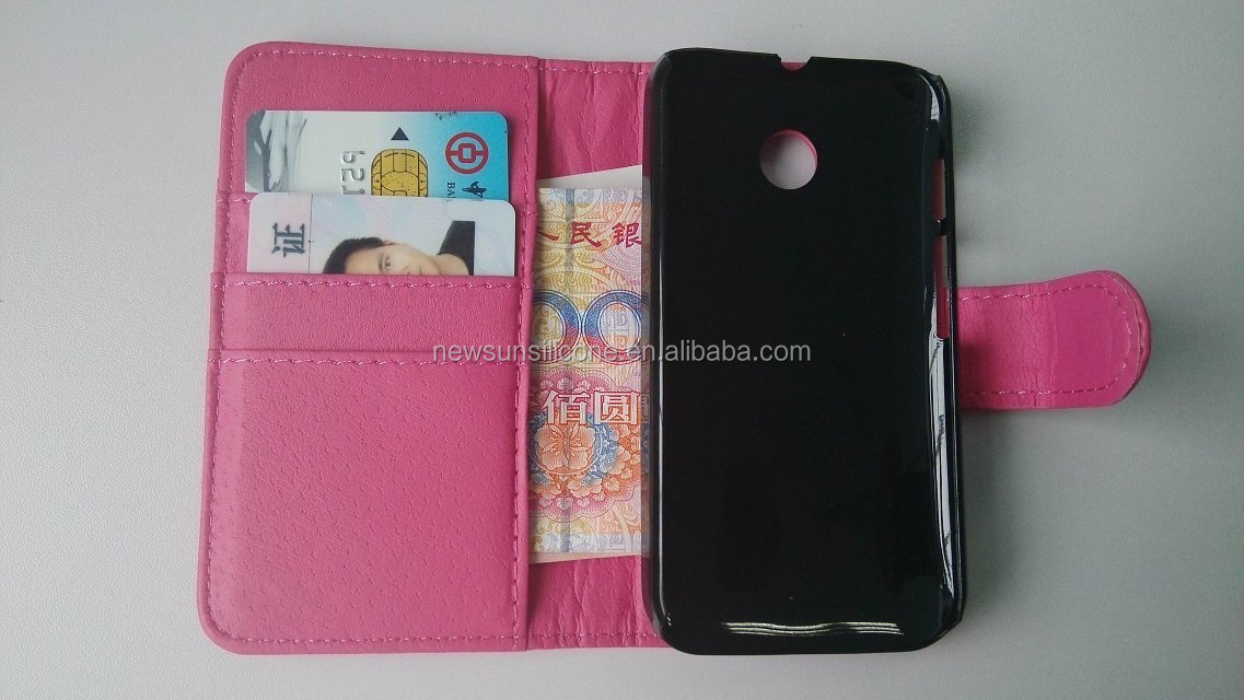 Wallet and Flip Leather Case for Moto E