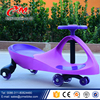 Small Kid Swing Car with hauling rope and music , new model plastic baby swing car / color blink light PU wheel good swing car