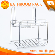 2-layer bathroom metal rack, Wall mounted metal storage shelf