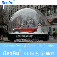 T099 Inflatable snow globe inflatable bubble camping tent/Inflatable Bubble Tent House Dome Outdoor Clear Show Room with 1 Tunne