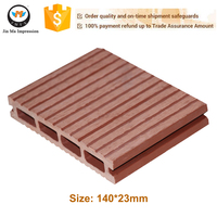 2016 Trade Assurance Factory Sale Water Proof Wood Plastic Composite WPC Decking Engineered Flooring