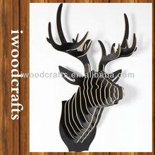 Black deer head ornament home decor iw9898001-47