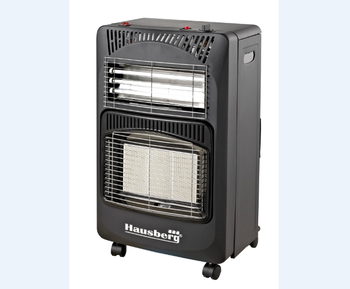 Hausberg foldable gas and electrical heater room heater black and  beige