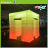 Lighting cube 3d inflatable photo booth shell tent with led for sale